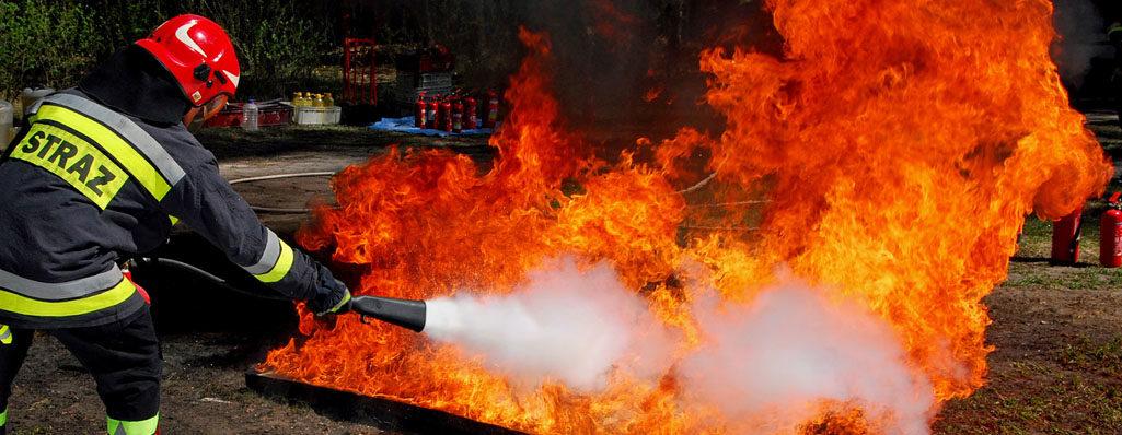 Pożar stert słomy w Jordanowie Śląskim